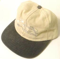 Lady Cobra Golf Hat Off White & Blue Combination Denim Mater