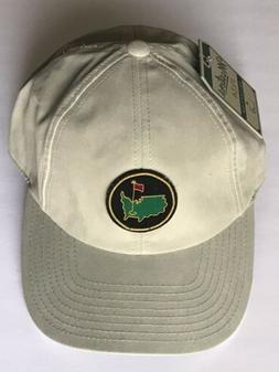 Masters golf hat khaki caddy augusta national members round