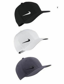 NIKE Men's Classic 99 Majors Golf Hat Cap Strapback Black Wh