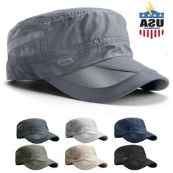 Men's Classic Army Summer Military Cap Hat Cadet Patrol Styl