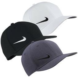 NIKE Men's Classic99 Majors Golf Hat Cap Strapback black whi