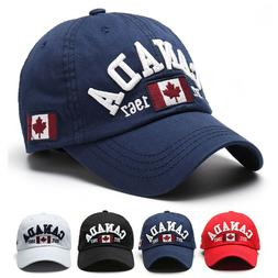 Men Unisex Canada Flag Baseball Cap Adjustable Snapback Viso