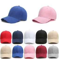 Men Women's Snapback Solid Baseball Cap Golf ball Hip-Hop Ha