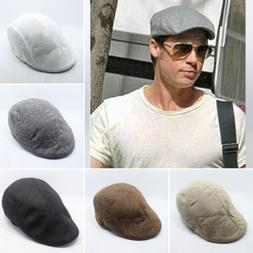 Mens Driving Golf Gatsby Cap Newsboy Ivy Hat Solid Sun Cabbi