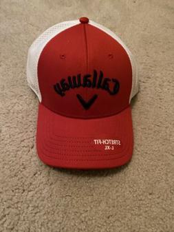 Mens Callaway Golf Odyssey Flex Stretch Fot Hat: L/XL Red An