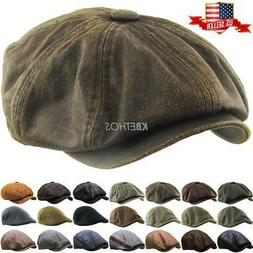 Mens Ivy Hat Golf Driving Ascot Winter Flat Cabbie Newsboy D