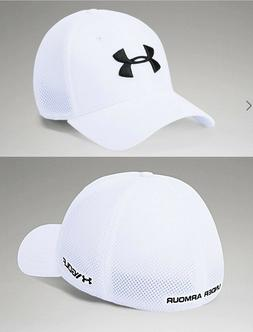 Under Armour Microthread Mesh Golf Hat Cap, White Size Sm-Me