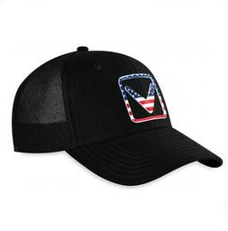 NEW 2020 Callaway Golf USA Trucker Black Adjustable Snapback