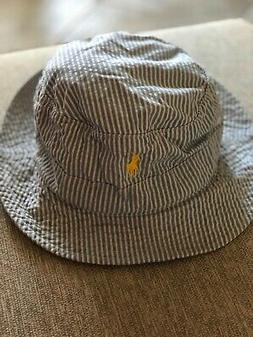 NEW RALPH LAUREN BUCKET/GOLF/RAIN HAT SEERSUCKER COTTON  LIG