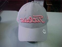 NEW TITLEIST GOLF HAT WATERMELLON & GREY MAGNETIC BALL MARKE