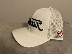 New Titleist Golf Pro V1 FJ SnapBack Mesh Hat Adjustable Whi