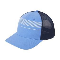 New Adidas Golf Stripe Trucker Real Blue Adjustable Snapback