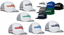 New Titleist Golf Tour Mesh Snapback Hat Pro V1 Color Adjust