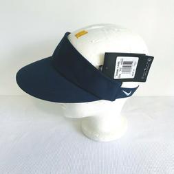 NEW NIKE Men's Women's Navy Blue Visor Golf Hat White Swoosh