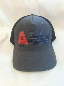NEW - Adidas Team USA Golf Trucker Snapback Hat - Grey/Navy