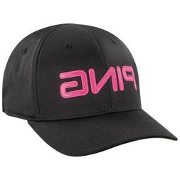 NEW Ping Tour Structured Black/Pink Fitted S/M Golf Hat/Cap