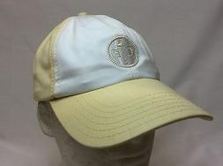 NEW WOMENS CONWAY FARMS GOLF CLUB CAP HAT WHITE / LIGHT YELL