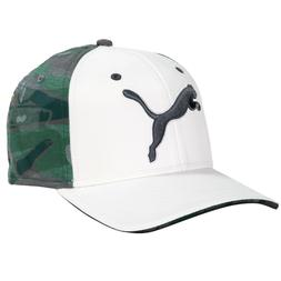 NWT Puma Golf Men's GoTime Cap Hat Bright White/Flagstick Ca