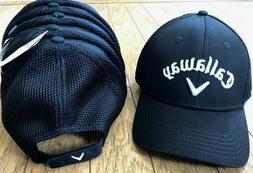 NWT Callaway Golf Mesh Hat Baseball Cap Adjustable Strap Bla