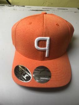 NWT Puma Golf P 110 Snapback Cap Hat Vibrant Orange OSFA $28