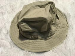 NWT PAGE & TUTTLE GR GREAT RIVER Tan HAT with brim L/XL wome
