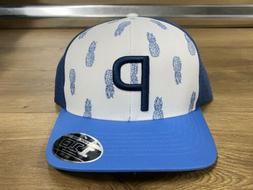 Puma P 110 Islands Pineapple Trucker Snapback Hat Cap Blue W