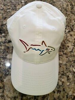 GREG NORMAN SHARK LOGO MEN'S POLYESTER WHITE GOLF BALL CAP H