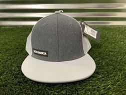 Adidas Snapback Heather Gray Flatbill Golf Hat OSFA  NEW!