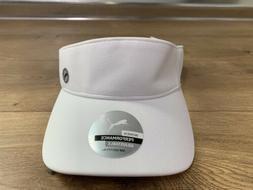 Puma Sport Visor Golf Hat White Gray Women's Adjustable