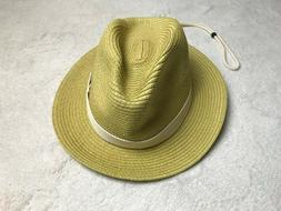 Greg Norman The Shark Embroidered Straw Golf Hat Natural One