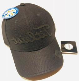 Titlelst Performance Ball Marker Golf Hat, Black/Black, Adju