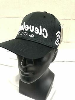 Cleveland Golf Tour Fit Mesh Fitted Hat Black S/M 100% Polye