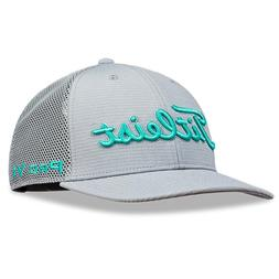 Titleist Tour Snapback Mesh Golf Hat NEW Adjustable Grey Tea