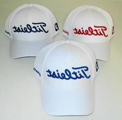 Titleist Tour Sports Mesh Golf Hat Cap, White, Fitted, S/M,