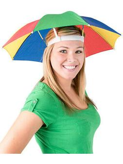 Umbrella Hat MultiColor Hands Free Umbrellas Golf Shade Lou