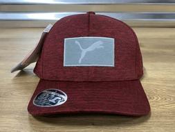 Puma Utility Patch 110 Snapback Golf Hat Cap Rhubarb Red OSF