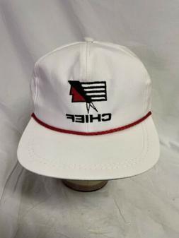 vintage chief trucker rope cap hat white