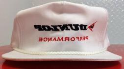 Vintage DUNLOP Golf Cap Adjustable Zip White Hat