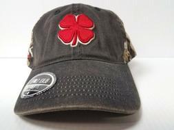 Black Clover Vintage Hunt Lucky  Hat Size ADJ Red/Stone/Navy