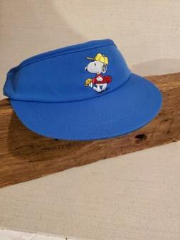 Vintage Snoopy Blue Golf Visor Hat Peanuts Headwear Headgear