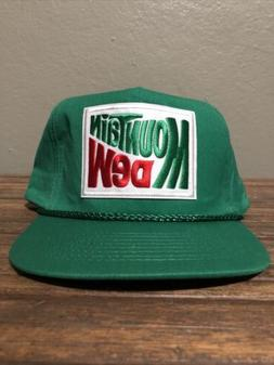 Vintage Style Mountain Dew Green Snap Back Trucker Rope Golf
