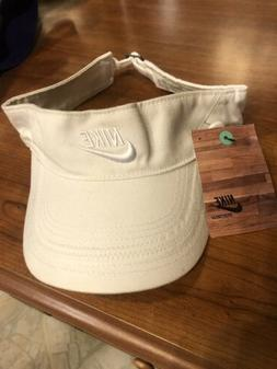 White Nike Men's WOMENS VISOR Golf Hat PGA Tour Cap Adjust