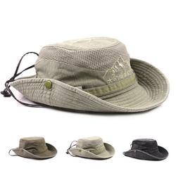 Wide Brim Cowboy Hat Collapsible Hats Fishing Golf Caps Sun