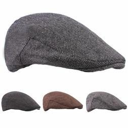 Winter Warm Beret Hats For Men Casual Golf Cabbies Newsboy C